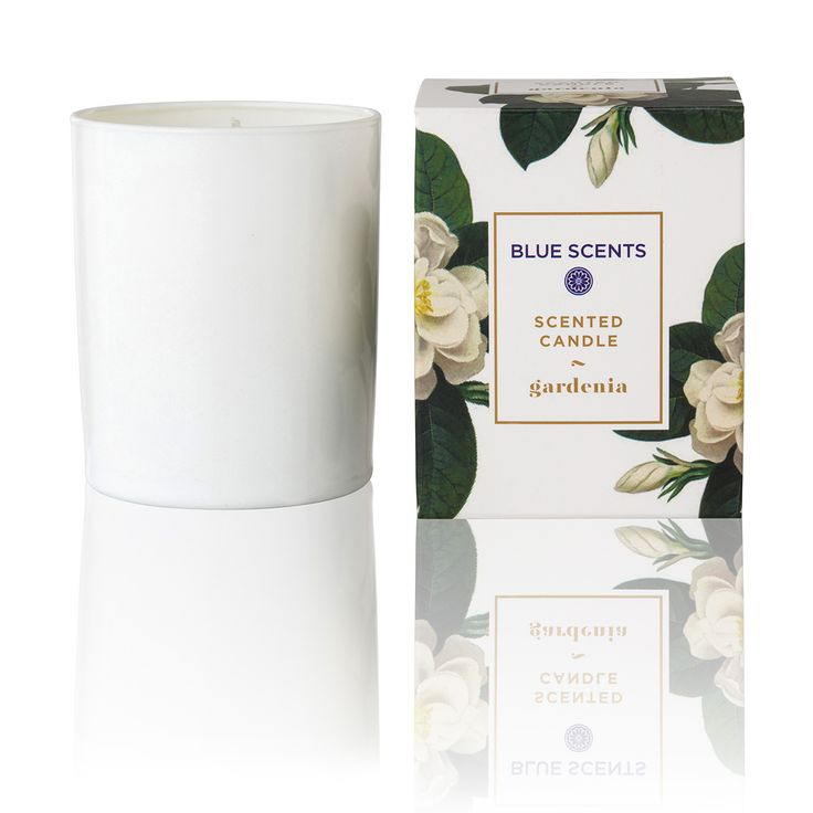 "Green Blu - ""BLUE SCENTS"" Gardenia Scented Candle 135gr"