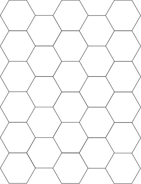 Hexagon Template - grandmothers garden patchwork template
