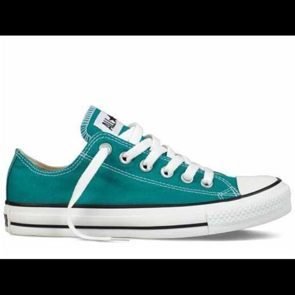 Rare turquoise converse! Great condition Great condition converse! Rare turquoise color you can't find anywhere! Converse Shoes Sneakers