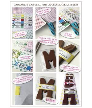 Pimp je Chocoladeletter, free download, free printable