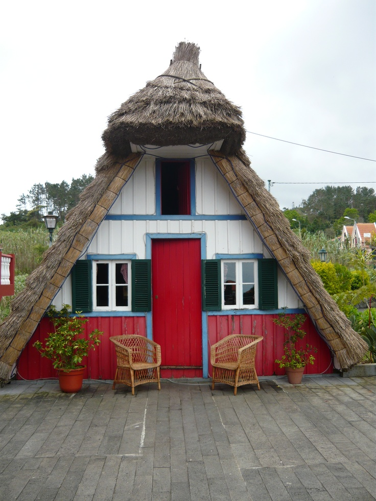 Would be so cool to rent this sweet house for a stay in Madeira, Portugal