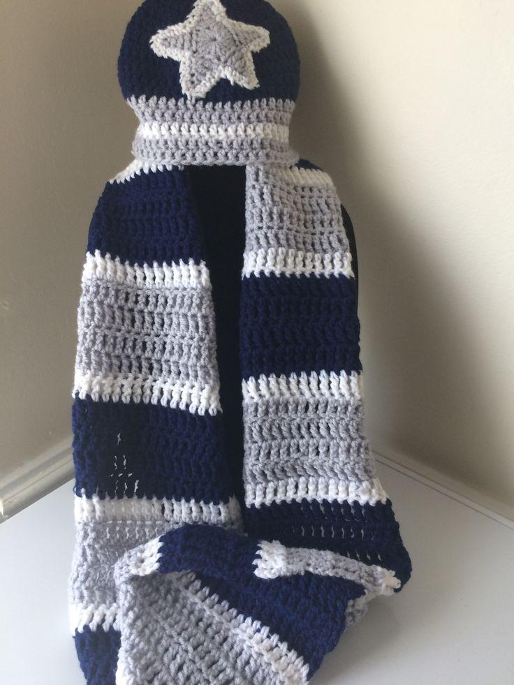 Knitting Pattern For A Football Scarf : 1000+ ideas about Crochet Mens Scarf on Pinterest Tutorial crochet, Crochet...