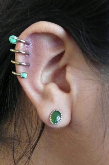 Ear piercing #piercings #bodyjewelry