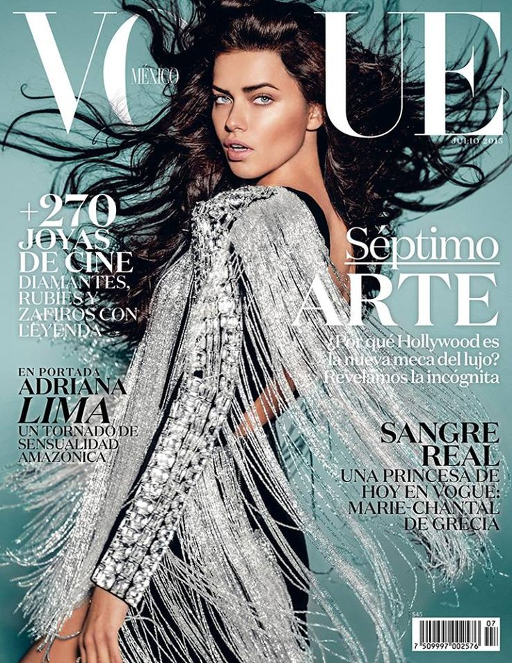 cool Adriana Lima covers Vogue Mexico July 2015 in Balmain Paris [Cover]
