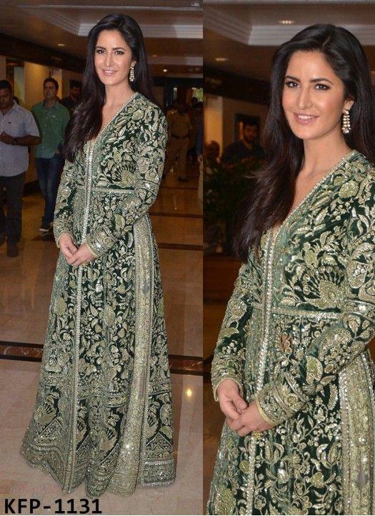 Katrina Kaif Banglori Silk Green Replica Gown | Gown | Pinterest ...