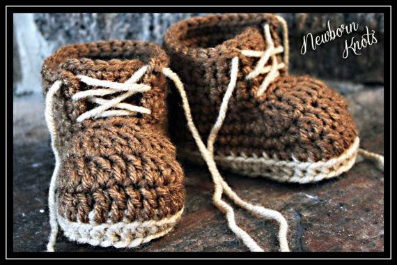 Crochet Pattern for Boys or Girls Baby Work Booties. Pattern number 011. Instant