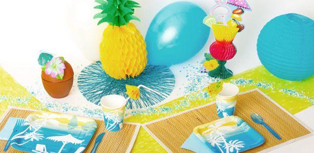 """Addobbi e decorazioni per feste a tema """"Ai tropici"""" su VegaooParty"""