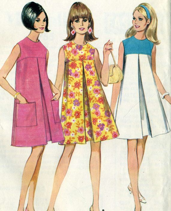 Vintage 1960s McCalls 8755 UNCUT Misses Mod by RomasMaison on Etsy