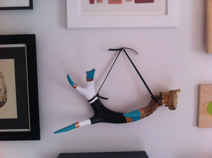 Decorative Painted Deer Antler - Naturally Shed. $50,00, via Etsy.