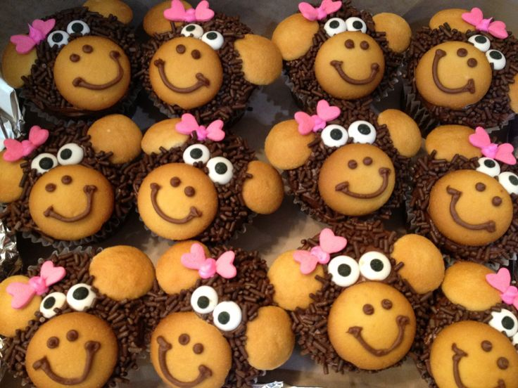 Heifer Project: fill the arch Monkey cupcakes
