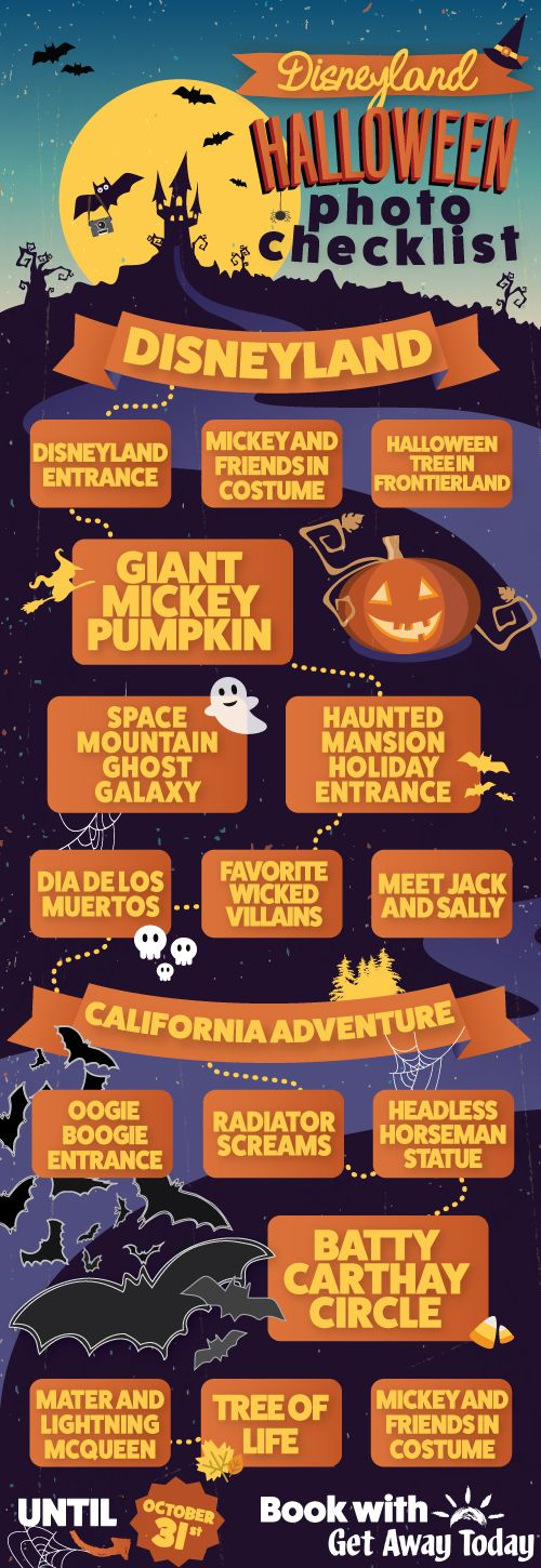 Disneyland Halloween Time Photo Checklist || Get Away Today