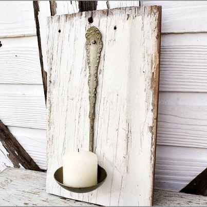 Cute Idea with an old ladle.