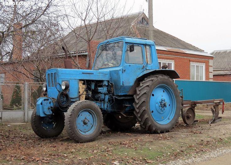LANGEO.ORG: МТЗ-80 с плугом и телегами. BElarus with plough an...