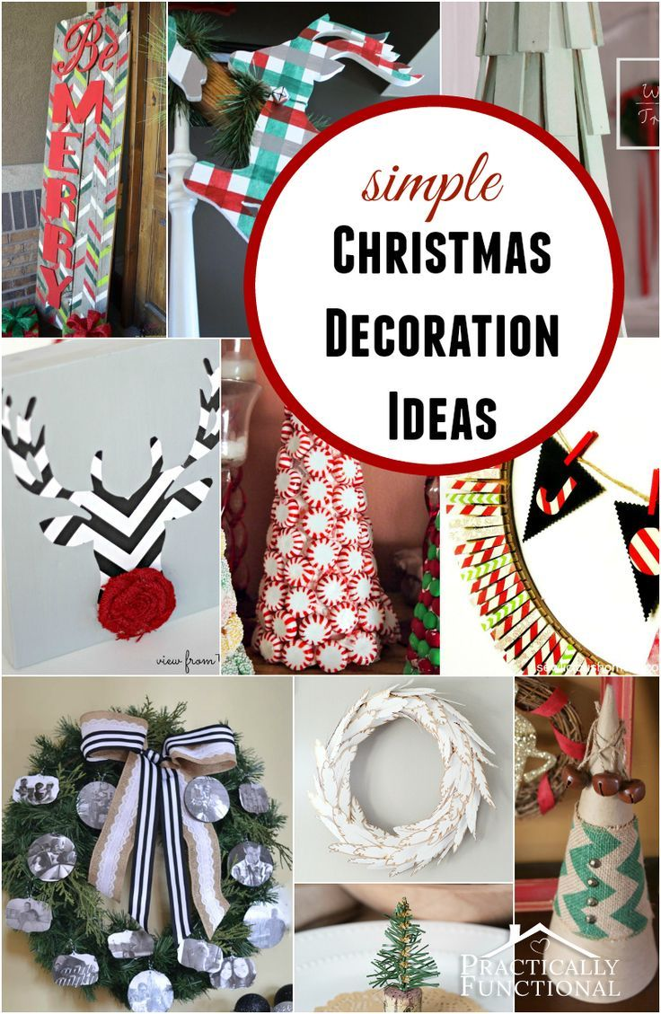 Simple Christmas Decorating Ideas: 1000+ Ideas About Simple Christmas Decorations On