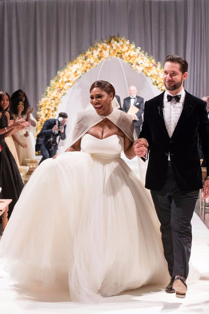 Serena Williams' Dreamy Wedding Dress Came With a Cape Fit For a Disney Princess