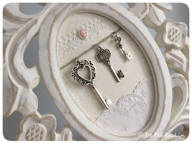 Déco: Mon cadre chiné et ses clés!