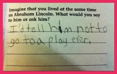 Kid's got a point...