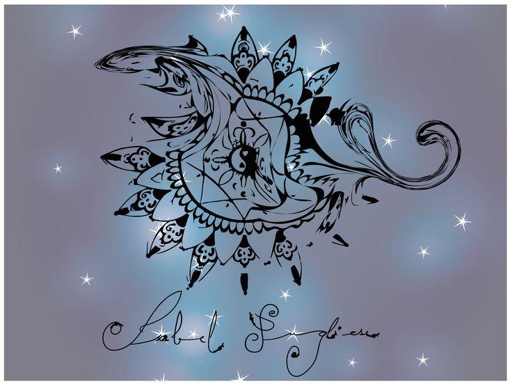 Isabel Pugliese, Mandala, Illustration, Sky