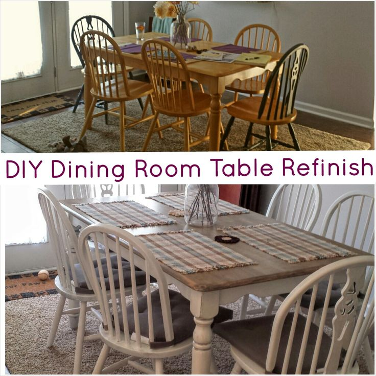 Refinishing A Dining Room Table Magnificent Decorating Inspiration