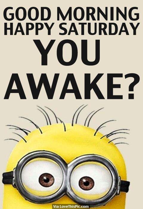 Good Morning, Happy Saturday, You Awake?