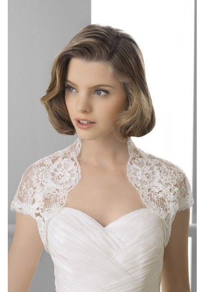 Short Sleeve Lace Elegant Wedding Wrap/Jacket