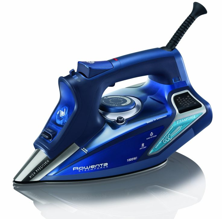 Personal Edge : Rowenta DW9280 Steam Force Steam Iron with Stainless Steel Soleplate - Blue