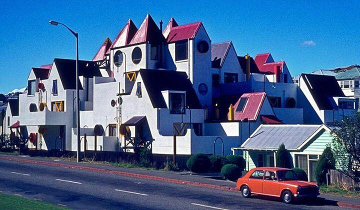 Roger Walker designed Park Mews apartments 1975 Wellington NZ
