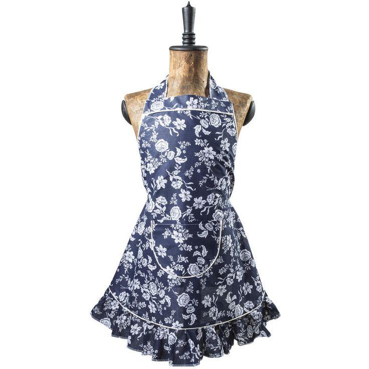 Kuchyňská zástěra Indigo - český výrobek krásný motiv modrotisku kvalitní 100% bavlna Kuchyňská zástěra s volány na sukni, se kterou budete mít radost z vaření. Zástěra je vyrobena z kvalitní 100% bav