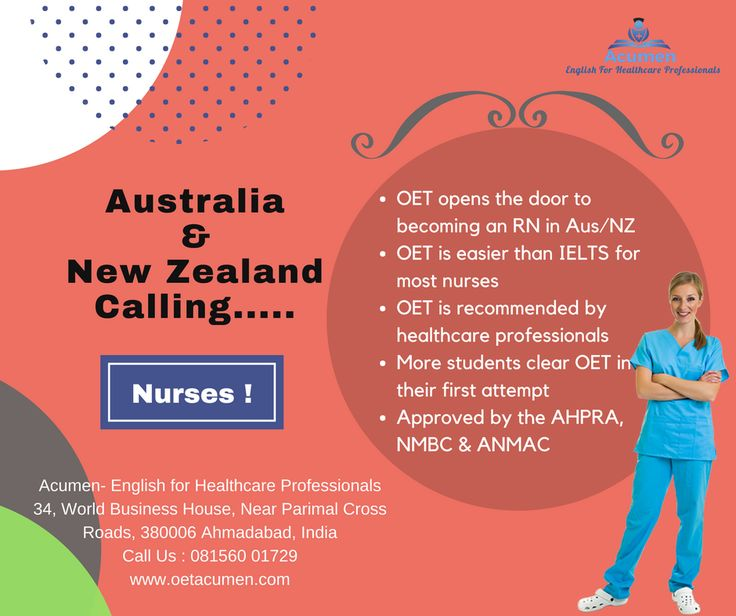 NURSES...!!! 💁‍♀️ Australia and New Zealand Calling..........!!!!  Join US today for #OET Contact us Now @ 081560 01729