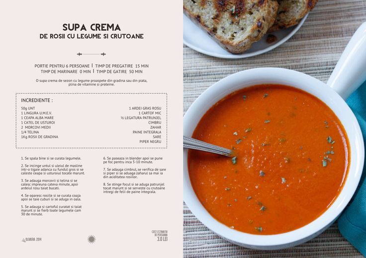 Supa Crema de Rosii cu Legume si Crutoane