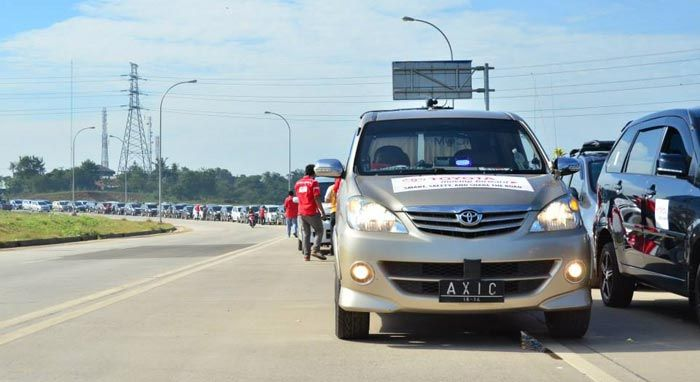 Gathering 9 Tahun AXIC, Konvoi 200 Mobil Avanza-Xenia