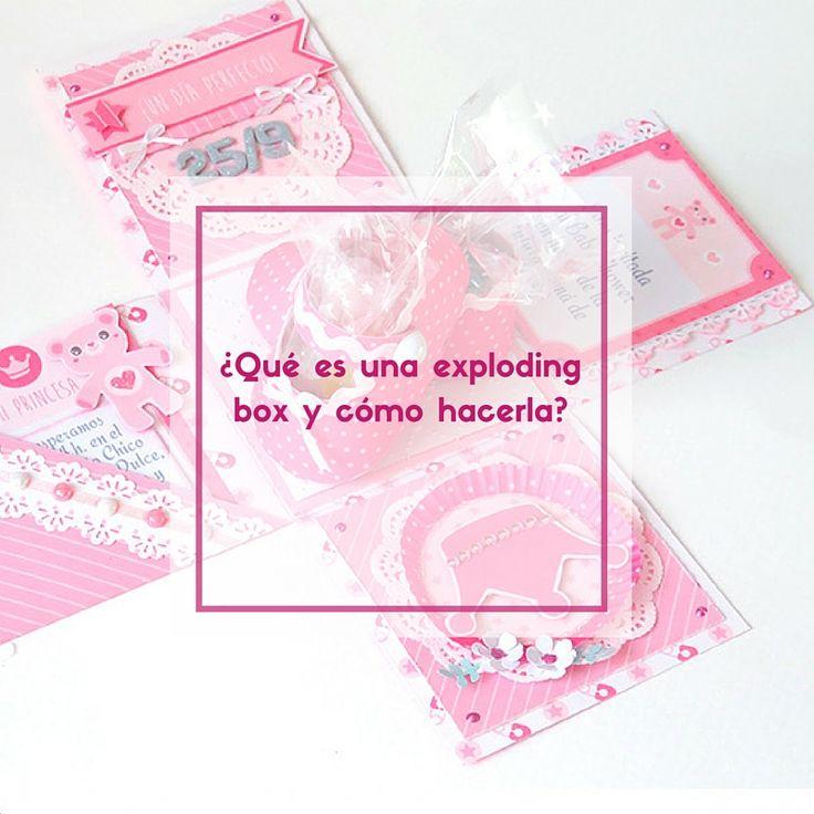 Aprende a realizar una exploding #box o caja explosiva para #bebé paso a paso. http://anitaysumundo.com/exploding-box-como-hacerla-en-7-pasos/ #baby #babyshower #craft #paper #Anitaysumudno #present #gift #scrapbooking