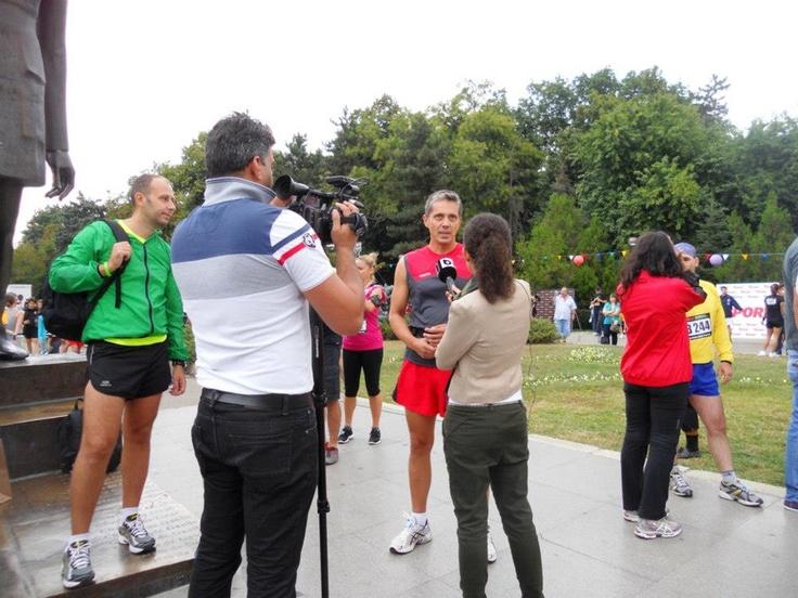 Interviu la We Run Bucharest 2012, organizat de Nike