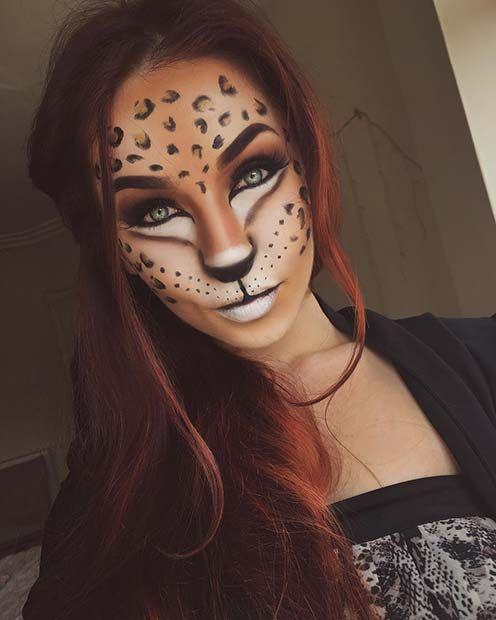 die besten 25 fasching schminken leopard ideen auf pinterest leopardenkost m katzen make up. Black Bedroom Furniture Sets. Home Design Ideas
