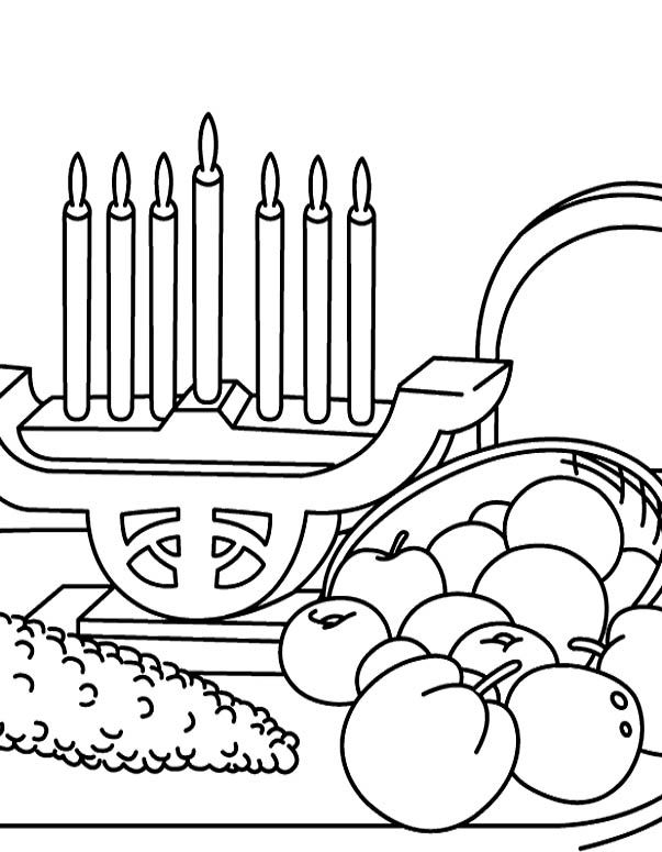 happy kwanzaa coloring pages - photo#10