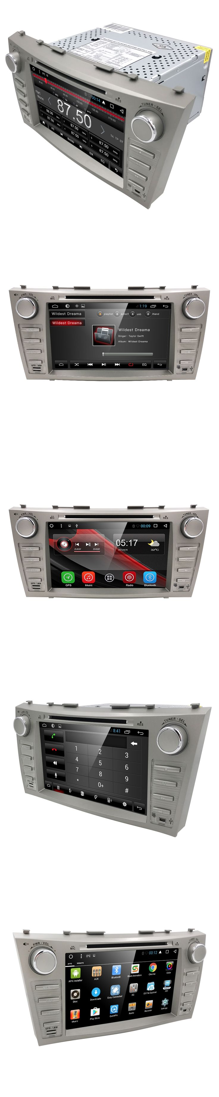 8 Inch Android 5.1.1 Car DVD Player GPS Navigation System for Toyota Camry 2007 2008 2009 2010 2011 (DTV DAB+ Optional)
