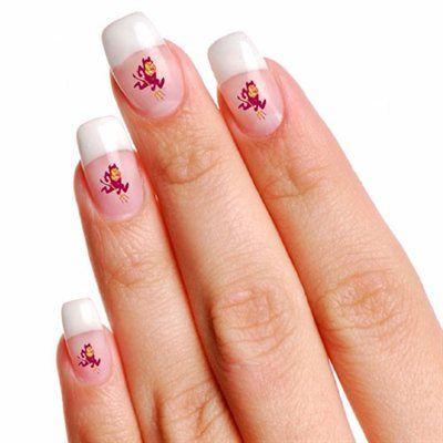 7 best asu nail art sun devil nail wraps designs images on arizona state sun devils 4 pack temporary nail tattoos prinsesfo Choice Image
