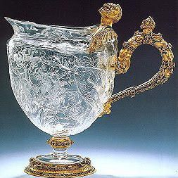 Dresden Crystal & Gold pitcher