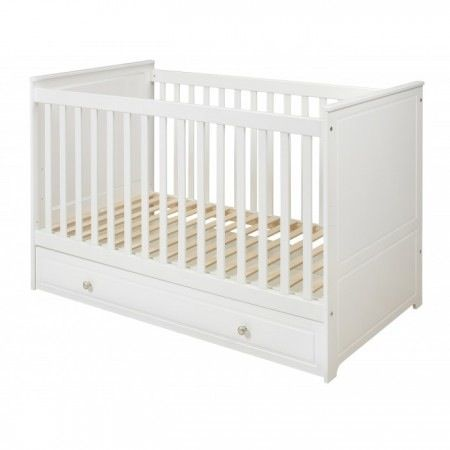 Classique Collection cot from Lullabuy - £225. Need to check whether adjustable sides