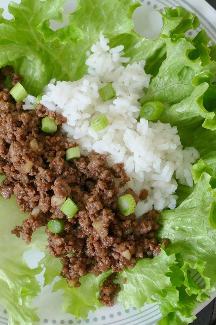 Korean Ground Beef And Rice Lettuce Wraps Recipe Recipe In 2020 Lettuce Wrap Recipes Wrap Recipes Lettuce Wraps