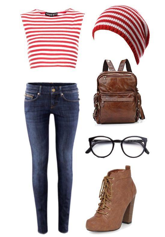 DIY Halloween costume ideas! Hipster Where's Waldo !