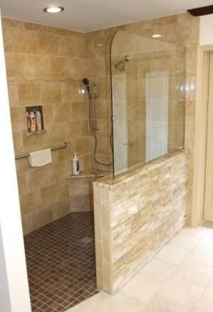 PLANNING FOR ELDERLY DAYS: No step into the shower; Use french door for the & Best 10+ Shower no doors ideas on Pinterest | Bathroom showers ... Pezcame.Com