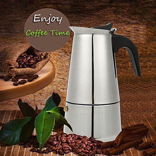 6 Cup 300ml Stainless Steel Moka Espresso Latte Percolator Stove Top Coffee Maker Pot // 6 taza de acero inoxidable de 300 ml moka espresso latte cafetera estufa fabricante de olla > Check this awesome image  : Coffee Maker
