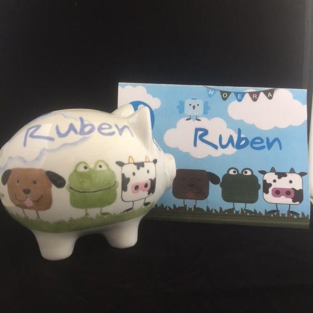 Geboortespaarvarken voor Ruben