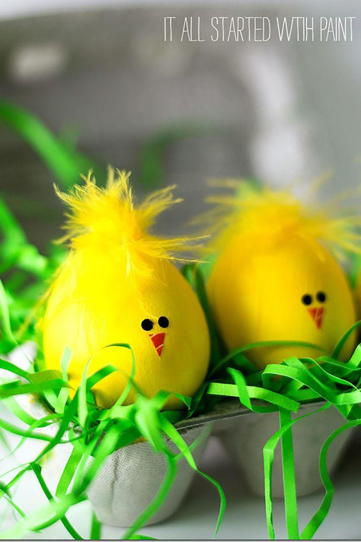 Chick Easter Eggs  - CountryLiving.com