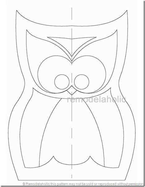 free owl pillow pattern (sewing required)