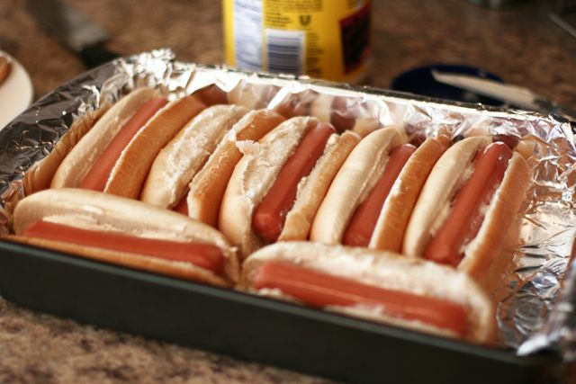 Oven Hot Dogs - I seriously want to try to make these.