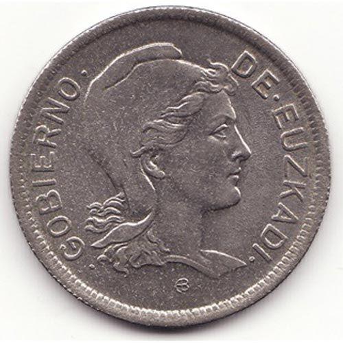 Moneda Euskadi 1937. 2 pesetas.