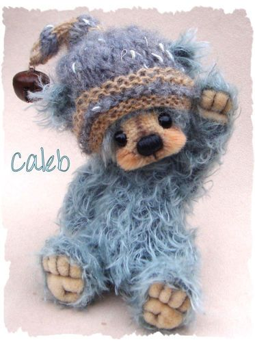 """Caleb"" by A.S.Bears - OOAK Mohair Artist Bear 6,5"" 