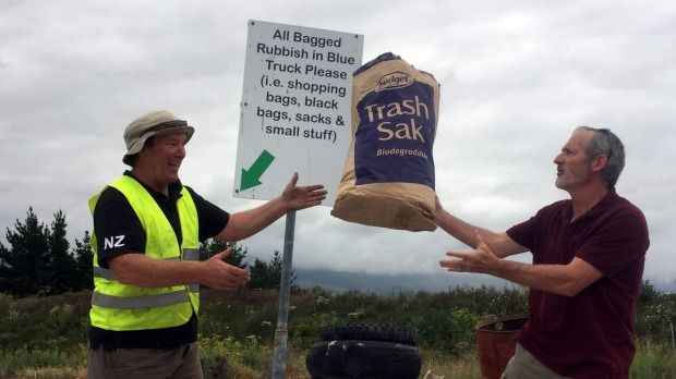 A Kaikoura couple has managed to fit 15 months' worth of rubbish into just one bag.